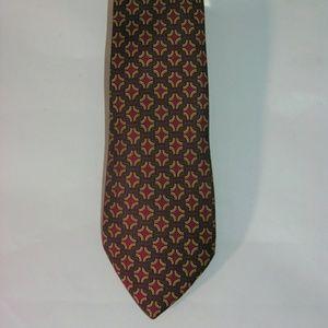 Hermes Skinny Silk Novelty Tie 7331 EA